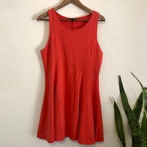 TOP SHOP // Orange Mini Dress